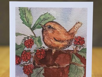 Baby Wren card