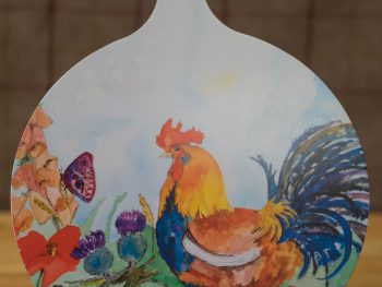 Cockerel Chopping Board
