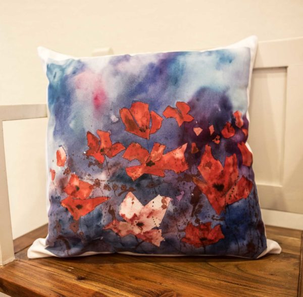 Dusk Poppies Cushion