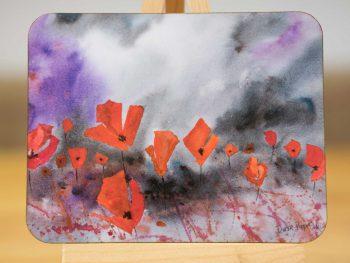 Dusk Poppies - Coaster