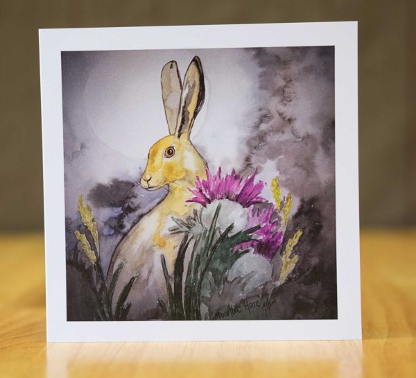 Moonlit Hare - Card