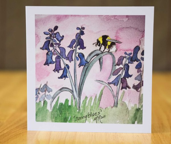Spring Blues - Card