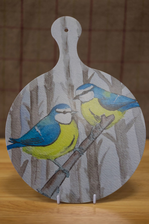 Blue Tits - Chopping Board