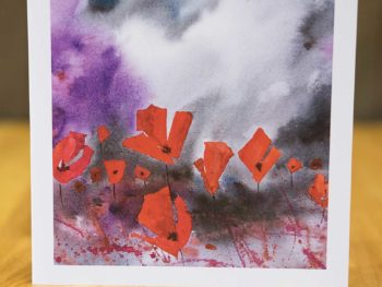 Dusk Poppies - Card