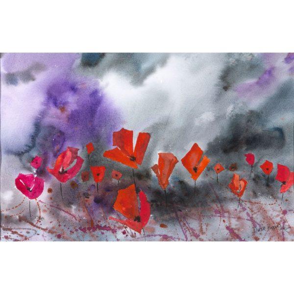 Dusk Poppies Print