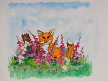 Foxgloves Original Watercolour