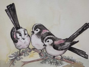 Long Tailed Tits Original Watercolour