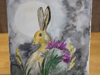 Moonlit Hare Original Watercolour