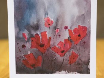 Night Poppies - Card