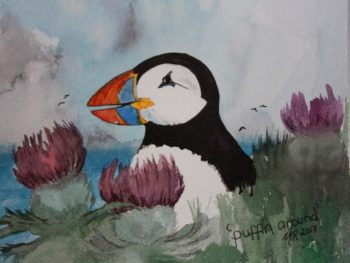 Puffin Around Print