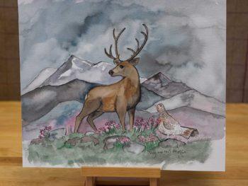 Stag and Hen Do Original Watercolour