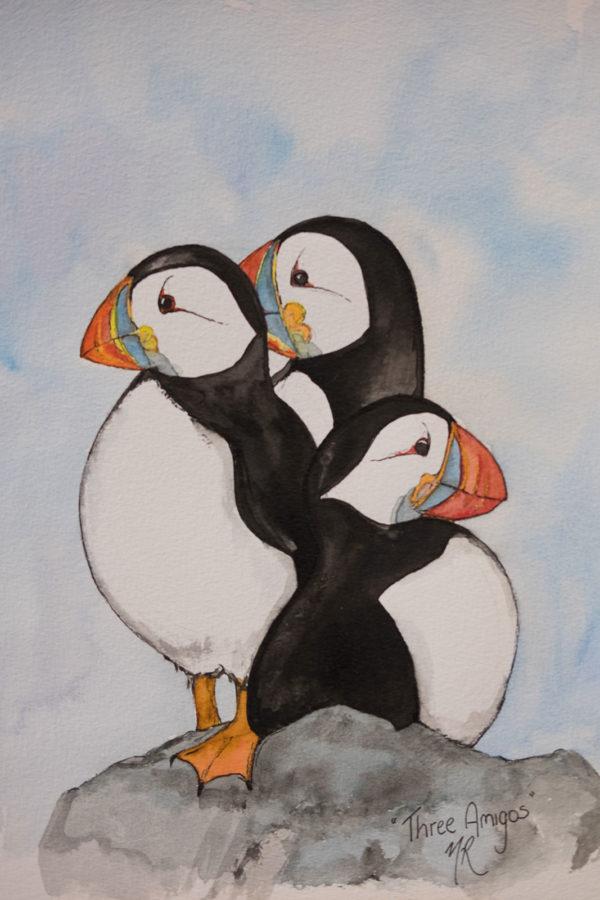 Three Amigos Original Watercolour