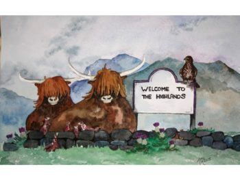 Welcome To The Highlands Print