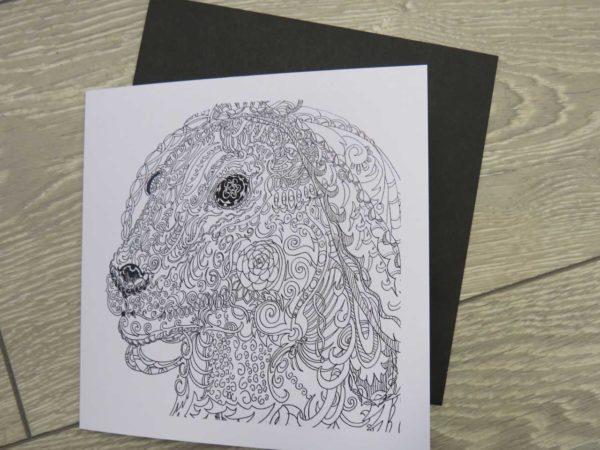 Celtic Dog - card