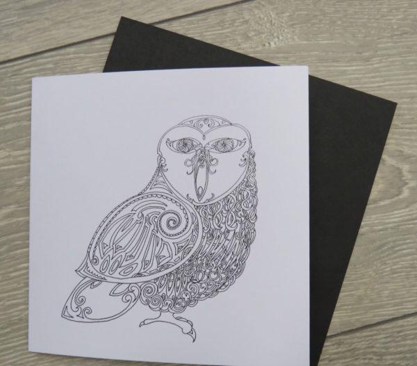 Celtic Owl - Card