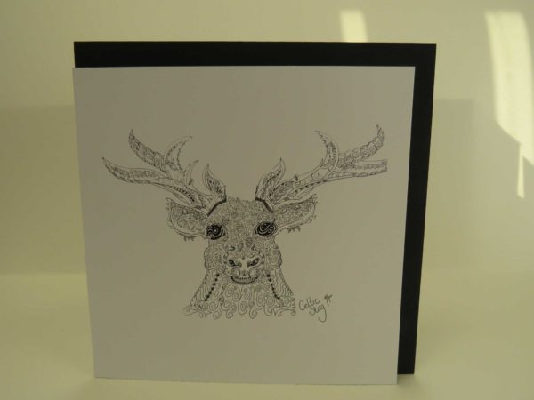 Celtic Stag - Card