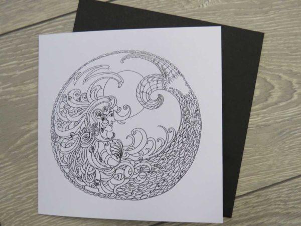 Celtic Mermaid - card