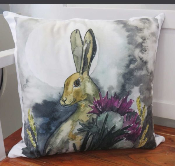 Moonlit Hare - cushion