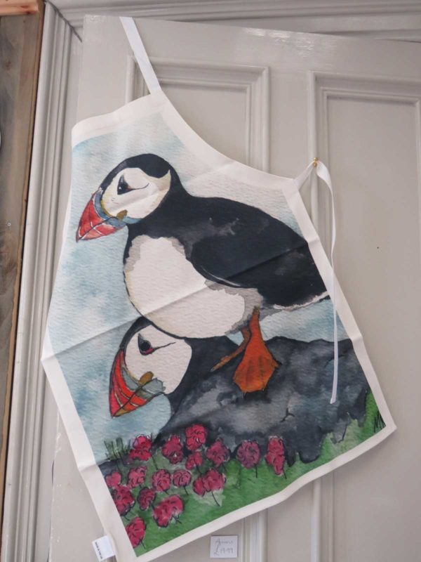 Puffins on the Lookout - Apron