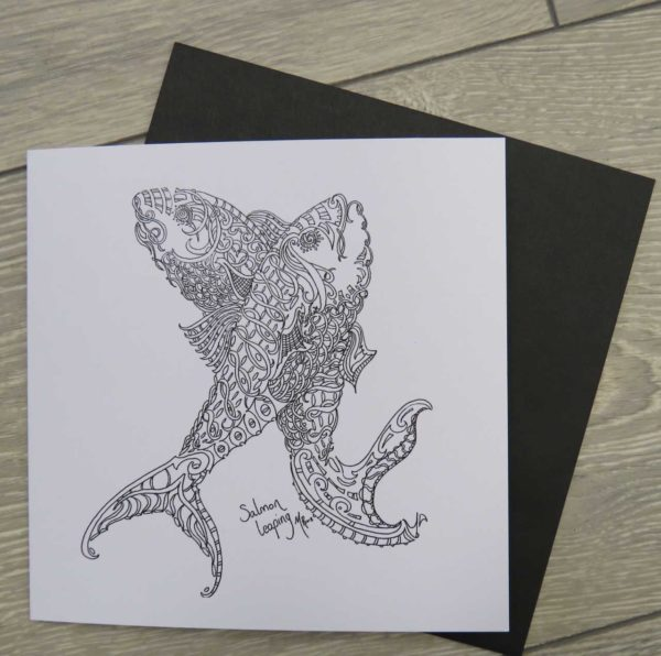 Salmon Leaping - Card