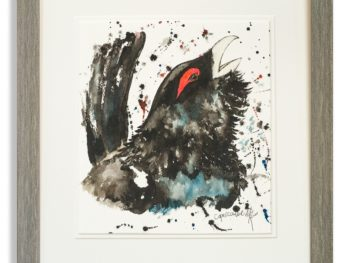 Watercolour of Capercaillie by Scottsh Artist Mike Ross